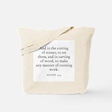 EXODUS  35:33 Tote Bag
