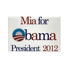 Mia for Obama 2012 Rectangle Magnet