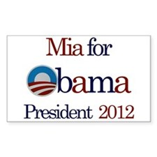 Mia for Obama 2012 Rectangle Decal