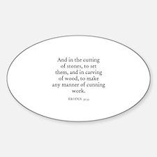 EXODUS 35:33 Oval Decal