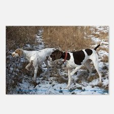 Pointer Pair at Work Postcards (Package of 8)