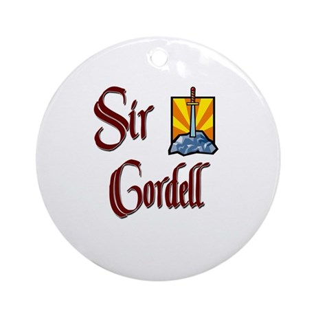 Sir Cordell Ornament (Round)