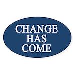 Change Has Come 1-20-09 Oval Sticker (10 pk)