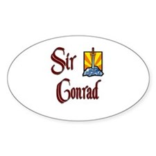 Sir Conrad Oval Decal