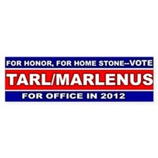 Tarl/Marlenus, Vote in 2012 Bumper Bumper Sticker