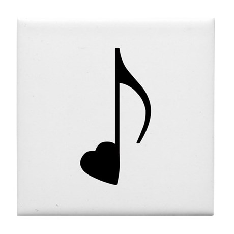 Eighth Love Note Tile Coaster