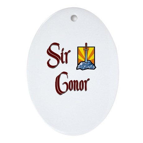 Sir Conor Oval Ornament