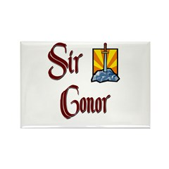 Sir Conor Rectangle Magnet