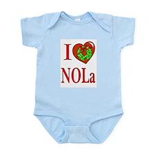 Love New Orleans Christmas Infant Creeper