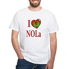 Love New Orleans Christmas White T-shirt