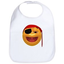 Pirate Smiley Bib