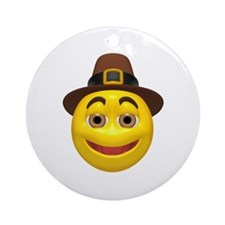 Pilgrim Smiley Ornament (Round)