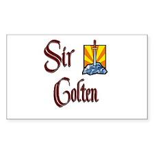 Sir Colten Rectangle Decal