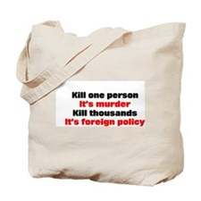 Kill one person Tote Bag