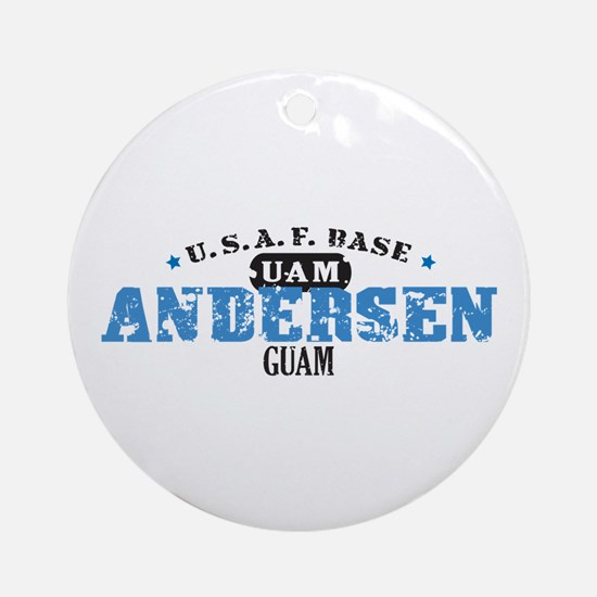 Andersen Air Force Base Ornament (Round)