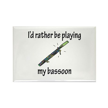 Playing My Bassoon Rectangle Magnet