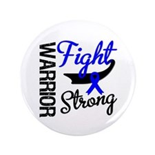 "Colon Cancer Warrior 3.5"" Button"