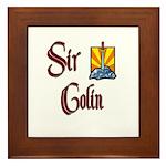 Sir Colin Framed Tile