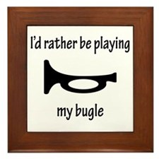 Playing My Bugle Framed Tile