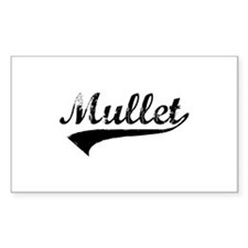 Worn Out Mullet Rectangle Decal