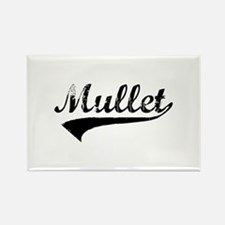 Worn Out Mullet Rectangle Magnet