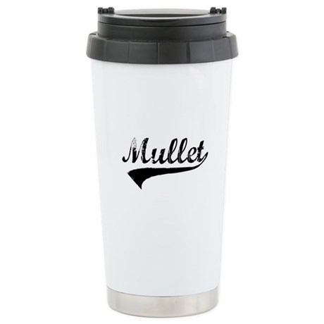 Worn Out Mullet Stainless Steel Travel Mug