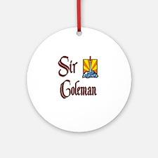 Sir Coleman Ornament (Round)