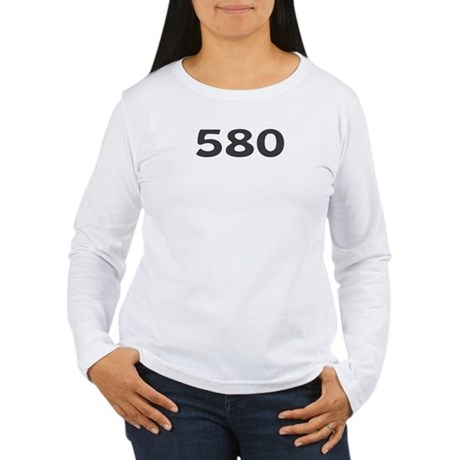 580 Area Code Women's Long Sleeve T-Shirt
