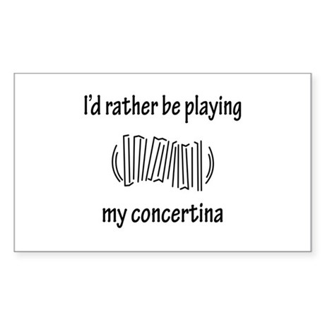 Playing My Concertina Rectangle Sticker