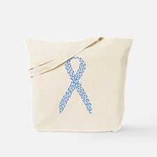Blue Awareness Ribbon Tote Bag