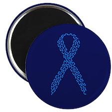 Blue Awareness Ribbon Magnet