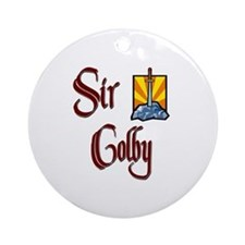 Sir Colby Ornament (Round)
