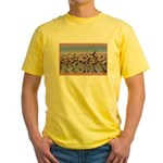 Flamingoes Yellow T-Shirt
