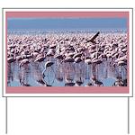 Flamingoes Yard Sign