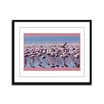 Flamingoes Framed Panel Print