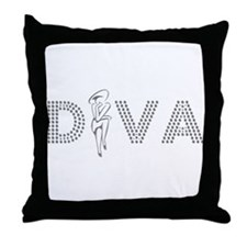 Lady Diva Throw Pillow