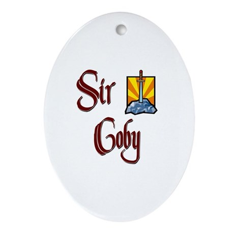 Sir Coby Oval Ornament