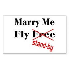 Marry Me! Rectangle Decal