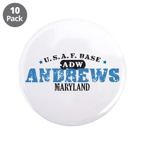 "Andrews Air Force Base 3.5"" Button (10 pack)"