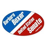 Oval Barbara Boxer Bumper Sticker
