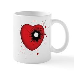 Bullet Hole Heart Mug
