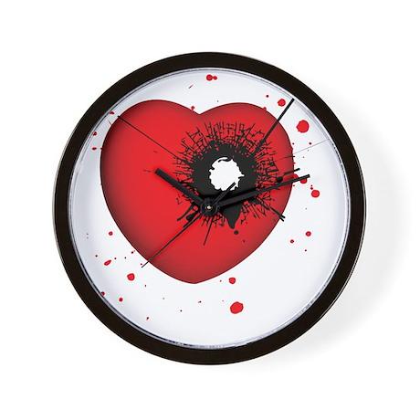 Bullet Hole Heart Wall Clock