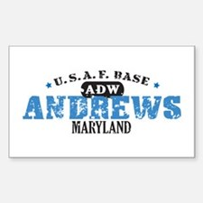 Andrews Air Force Base Rectangle Sticker 10 pk)