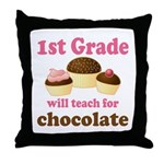 Funny 1st Grade Throw Pillow