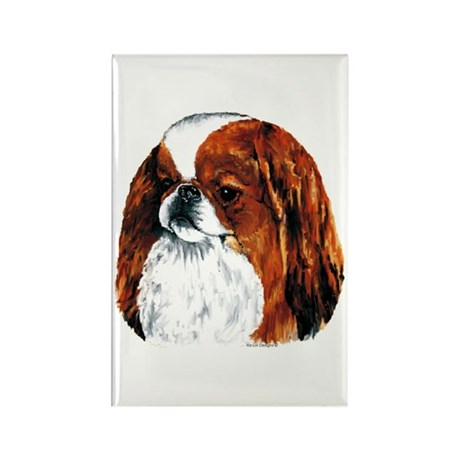 Japanese Chin Red Portrait Rectangle Magnet