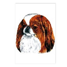 Japanese Chin Red Portrait Postcards (Package of 8