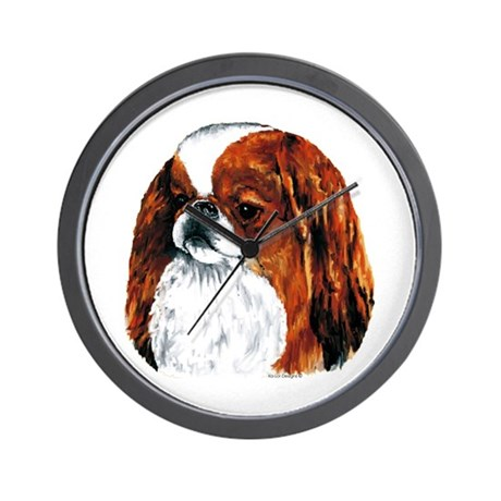 Japanese Chin Red Portrait Wall Clock