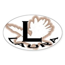 Laura City Oval Decal