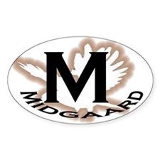 Midgaard City Oval Decal