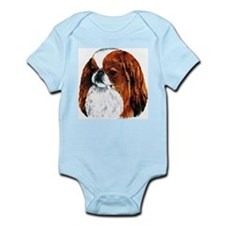 Japanese Chin Red Portrait Infant Creeper